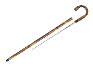 CANNE-EPEE COURBE FACON BAMBOU